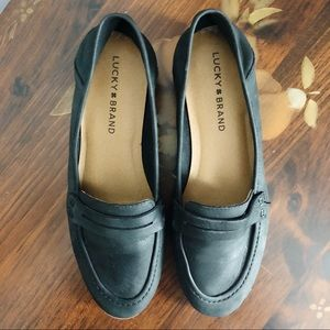 Lucky Brand Black Loafers